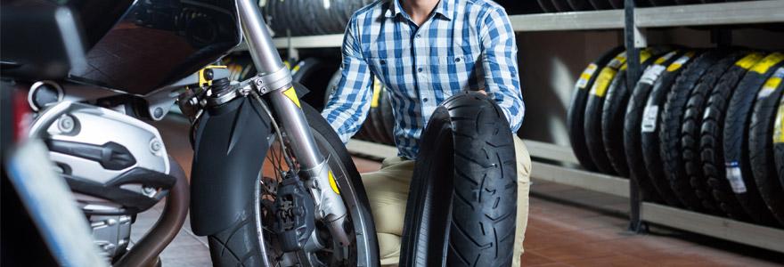 démonter pneues de moto